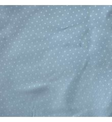 Water Resistant Polyester Polkadot Dobby - Sky Blue