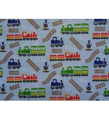 Trains Polycotton Print