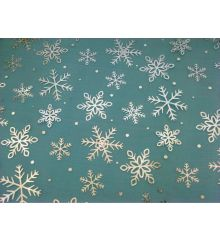 Christmas Silver Snowflakes Chiffon