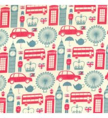 London Icons Polycotton Print (7500)