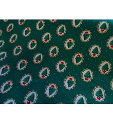 Oval Tree Christmas Cotton Poplin (0526)