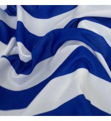 Mock Eyelet Sports Fabric 145 GSM-Blue/White Stripe