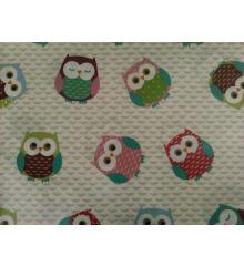 Fryetts Owls PVC Coated Tablecloth Fabric-Multi