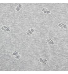 Printed Jersey Sweatshirt Pineapples-Grey