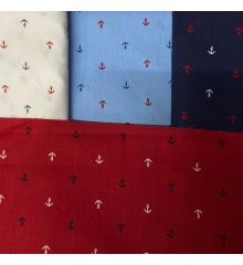 Nautical Anchors 100% Cotton Poplin
