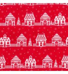 Houses & Snowflakes Christmas Polycotton (830)