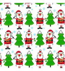 Santa Tree Christmas Polycotton (842)