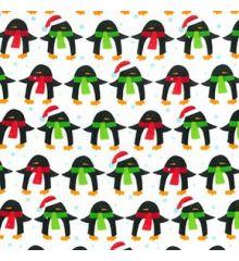 Festive Penguin Christmas Polycotton (844)