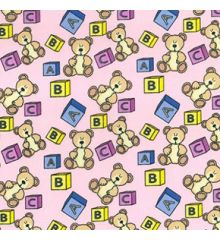 Kids Toys Polycotton Print-Baby Pink #f4c2c2