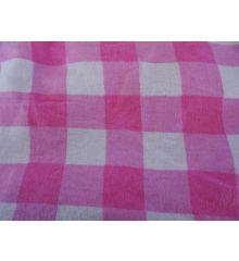 Brushed Cotton Gingham-Pink