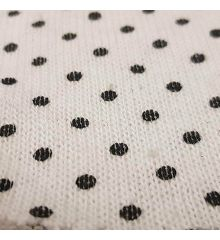 Polka Dot Linen Feel Jersey Fabric