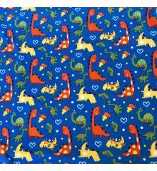 Printed Anti-Pil Polar Fleece Fabric 20+ Designs-Dinosaurs