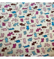 Printed Anti-Pil Polar Fleece Fabric 20+ Designs-Kittens