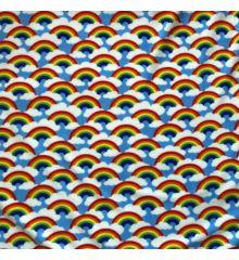 Printed Anti-Pil Polar Fleece Fabric 20+ Designs-Rainbows