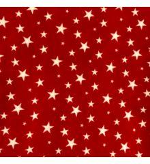 Printed Anti-Pil Polar Fleece Fabric 20+ Designs-Stars - Red