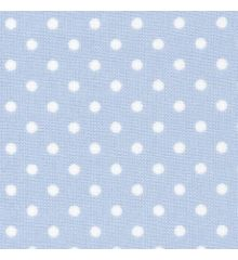 Polka Dot PVC Coated Cotton Poplin-Sky Blue