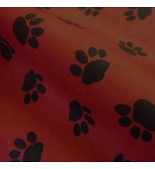 Paw Print Waterproof Outdoor PVC-Red