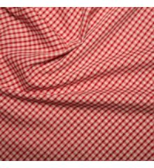 1/8 Inch Gingham Polycotton-Red