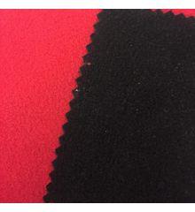 Reversible Anti-Pil Polar Fleece-Black / Red