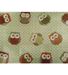 Fryetts Owls PVC Coated Tablecloth Fabric