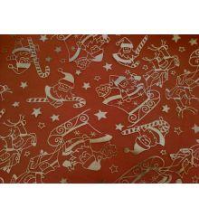 Christmas Silver Sleigh Chiffon-Red
