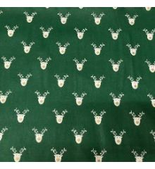 Christmas Reindeer Faces 100% Cotton Poplin