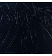 Plain Dyed Triple Velvet Soft Fabric-Black