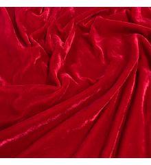 Royal Dress Velvet Fabric-Red
