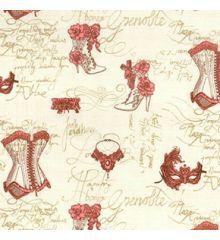 Wedding Vintage Cotton Poplin Print