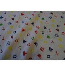 Multicolour Sailing Polycotton Print