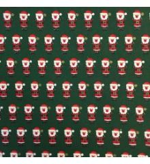 Christmas Santa Claus 100% Cotton Poplin