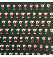 Christmas Santa Claus 100% Cotton Poplin-Green