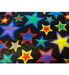 Multi Colour Star Satin