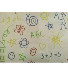Fryetts Scribble PVC Coated Tablecloth Fabric