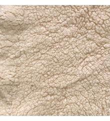 Supersoft Sherpa Fleece Fabric-Cream