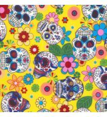 Calavera Skulls Cotton Poplin