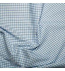1/8 Inch Gingham Polycotton-Sky Blue