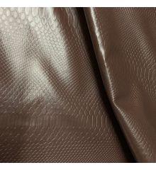Snake Skin PVC Faux Leather-Brown