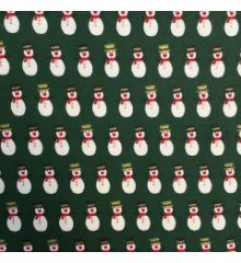 Christmas Snowmen Top Hats 100% Cotton Poplin