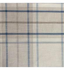 Soft Woven Check Fire Retardant Furnishing-Blue