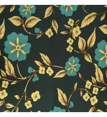Blue Flowers Stretch Jersey DTY Fabric