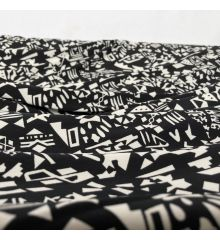 Symbols Stretch Jersey DTY Fabric
