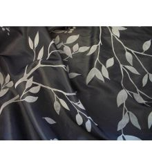 Black Floral Furnishing Taffeta
