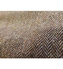 Harris Tweed Herringbone Stripe Wool-Brown