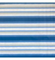 Stripe Waterproof Outdoor Canvas-Blue/Grey Stripe