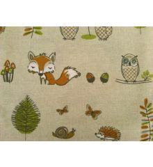 Fryetts Woodland Fox 100% Cotton Fabric