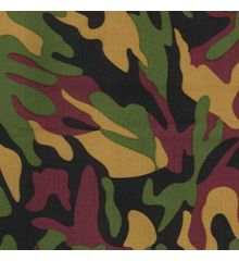 Camo Water Repellent UVA Coated Canvas (7580)-Green