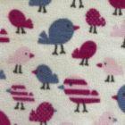 Printed Anti-Pil Fleece - Little Birds