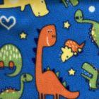Printed Anti-Pil Fleece - Dinosaurs