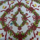 Holly & Bows Christmas PVC Tablecloth Fabric